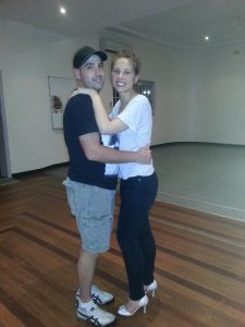 Sam and Daniel taking Bridal dance lessons at burwood